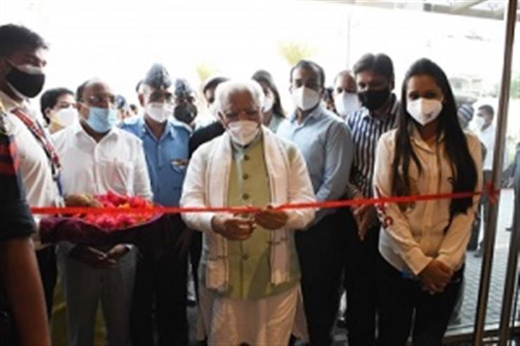 Haryana CM unveils 100-bed Covid centre in Gurugram